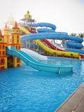 Aquapark sliders, aqua park, water park Stock Photography