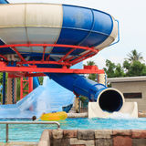 Aquapark sliders Royalty Free Stock Images