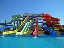 Aquapark slides Stock Images