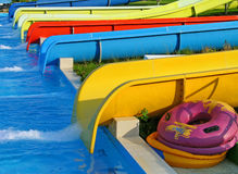 Aquapark slides Royalty Free Stock Images