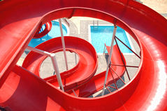 Aquapark slides Royalty Free Stock Photography