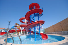 Aquapark slides Royalty Free Stock Image