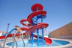 Aquapark slides Royalty Free Stock Photos