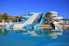 Aquapark slides Stock Photography