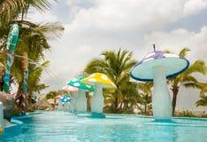 Aquapark in Tailandia Immagine Stock