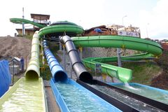 Aquapark2 Stockfoto
