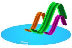 Aquaparkabbildung Stockbilder