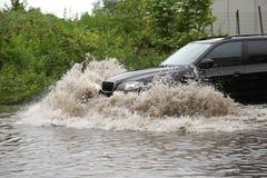 Aquaplaning πλημμύρες Στοκ φωτογραφία με δικαίωμα ελεύθερης χρήσης