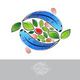 Aquaponic Logo With Fish Imagem de Stock
