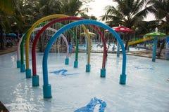 Aquapretpark royalty-vrije stock afbeeldingen