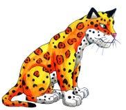 Aquarela épico Jaguar ilustração stock