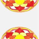 Aquarela abstrata da mandala do teste padrão Fotografia de Stock Royalty Free