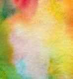 Aquarela abstrata e fundo pintado acrílico Imagens de Stock