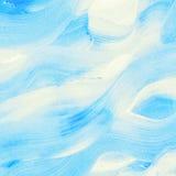Aquarela azul abstrata, onda do mar Fotos de Stock