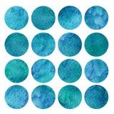 Aquarela azul Dots Background Texture imagem de stock royalty free