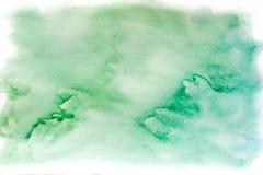 Aquarela, azul e verde do fundo Abstraia a textura do fundo Foto de Stock Royalty Free