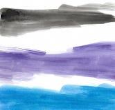 Aquarela azul roxa preta ilustração stock