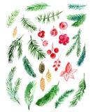 Aquarela christmas4 Imagens de Stock Royalty Free