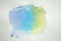 Aquarela colorida abstrata no fundo do Livro Branco Imagens de Stock