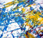 Aquarela cor-de-rosa azul do ouro branco que pinta o fundo brilhante abstrato, acrílico da aquarela que pinta o fundo abstrato foto de stock