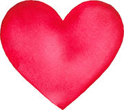 Aquarela cor-de-rosa coração isolado pintado Imagens de Stock