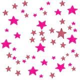 A aquarela cor-de-rosa stars o fundo Ilustração da aquarela para o cartão, etiqueta, cartaz, bandeira Estrelas isoladas sobre Imagem de Stock