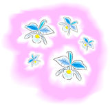 A aquarela da flor ilustração royalty free