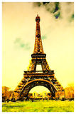 Aquarela da torre Eiffel Foto de Stock