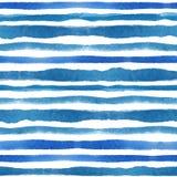 A aquarela descasca o grupo sem emenda do teste padrão Fundo ciano azul ilustração do vetor