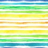 A aquarela descasca o teste padrão sem emenda Azul, verde, amarelo, alaranjado ilustração do vetor