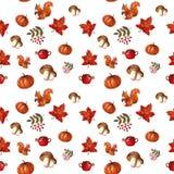 Aquarela do outono patern ilustração royalty free