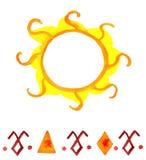 A aquarela do sol Fotografia de Stock
