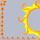Aquarela do teste padrão de Sun Fotos de Stock Royalty Free