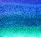 A aquarela dos azuis marinhos mancha o fundo, borda desigual ilustração do vetor