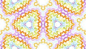 Aquarela geométrica colorida Brilho P sem emenda ilustração stock