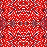 Aquarela geométrica do vermelho de vinho Teste padrão sem emenda surpreendente Listras tiradas mão Textura da escova stunning fotos de stock royalty free