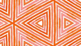 Aquarela geométrica vermelha cor-de-rosa Sem emenda delicioso ilustração do vetor