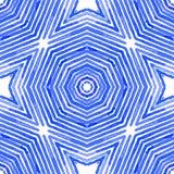 Aquarela geom?trica azul Teste padr?o sem emenda bonito ilustração royalty free