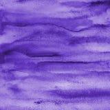 Aquarela lilás abstrata na textura de papel como o fundo Fotos de Stock Royalty Free