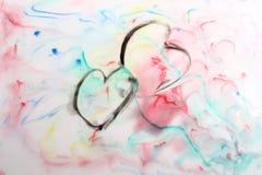 Aquarela pintado à mão Imagem de Stock