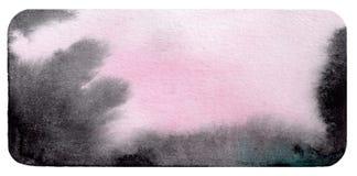 aquarela Preto-e-roxo-cor-de-rosa Fotos de Stock