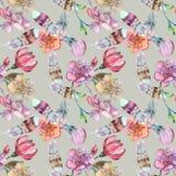 Aquarela sem emenda para a matéria têxtil Foto de Stock Royalty Free