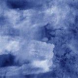 Aquarela tormentoso que pinta o fundo abstrato Fotos de Stock Royalty Free