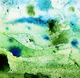 Aquarela verde abstrata fotografia de stock royalty free