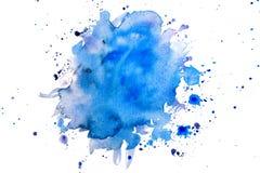 Aquarelas azuis no branco Fotos de Stock