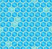 Aquarell abstraktes geometrisches polygonales nahtloses BackgroundIllustrationΠStockbilder