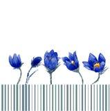 Aquarell-Art-Vektor-Illustration von Schneeglöckchen Stockfoto