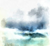 Aquarell bewölkt Hintergrund Lizenzfreie Stockbilder