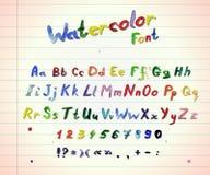 Aquarell colorfull Guss Stockbilder