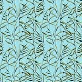 Aquarell deckt nahtloses Muster mit Schilf vektor abbildung